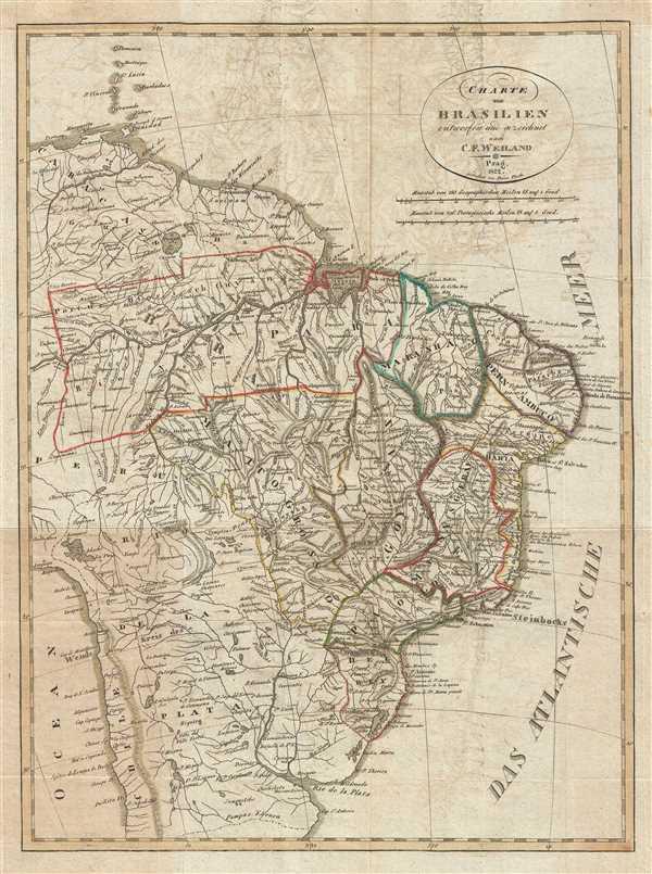 Charte von Brasilien entworfen und gezeichnet nach C. F. Weiland.