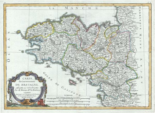 Carte du Gouvernement De Bretagne.