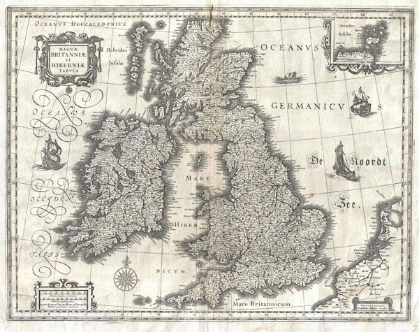 Magnae Britanniae et Hiberniae Tabula.