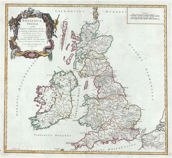 Britannicae Insulae in quibus Albion seu Britannia Major, et Ivernia seu Britannia Minor. - Main View