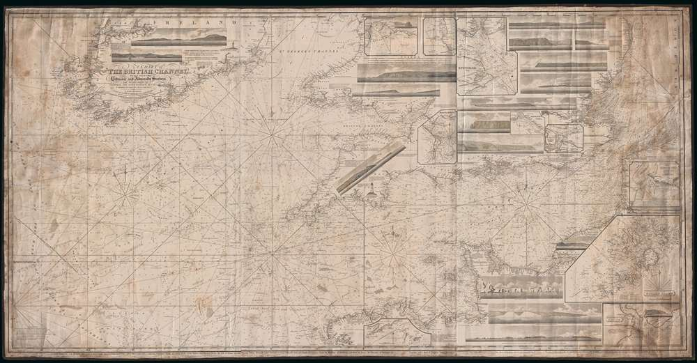 A Chart of the British Channel, Drawn From the Ordnance and Admiralty Surveys, the Observations of Admiral Sir John Knight, K. C. B., and Other Authentic Documents.