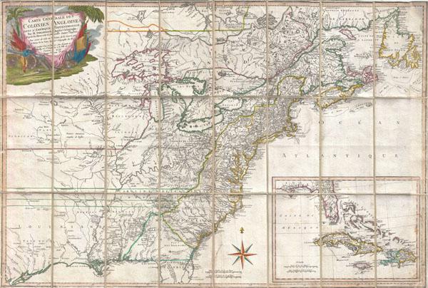 Carte Generale Des Colonies Angloises Dans L'Amerique Septentrionale.
