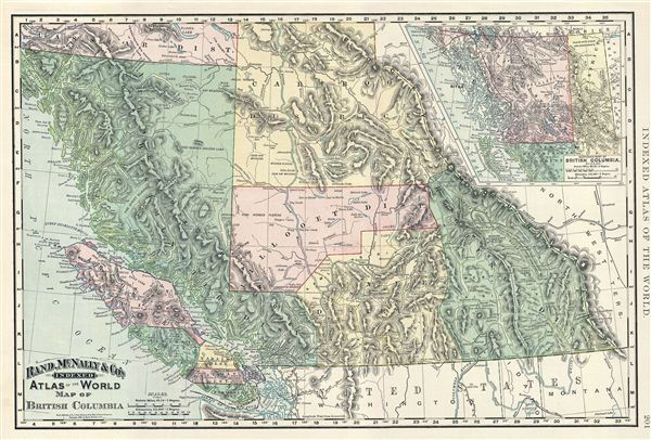 Rand Mcnally Canada Map Map of British Columbia.: Geographicus Rare Antique Maps