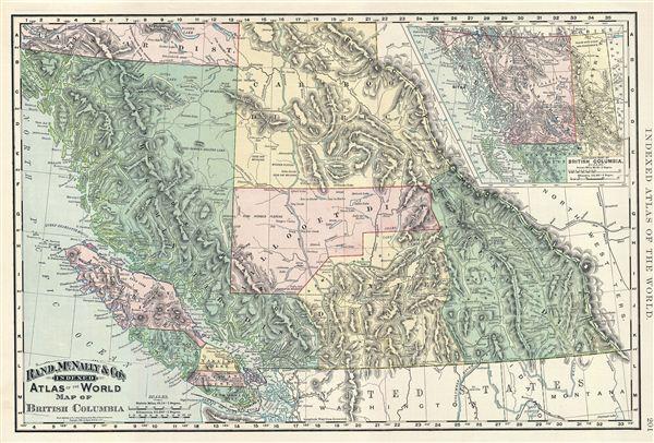 Map of British Columbia. - Main View
