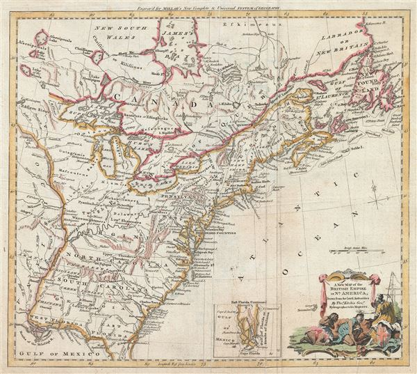 A New Map of the British Empire in Nth. America. - Main View