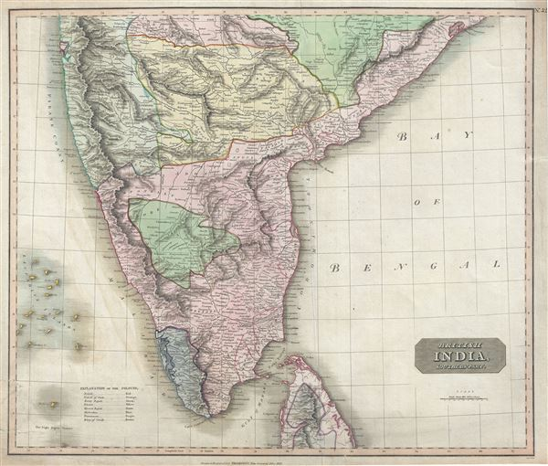 British India, Southern Part.