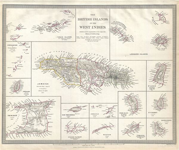 The British Islands in the West Indies. - Main View