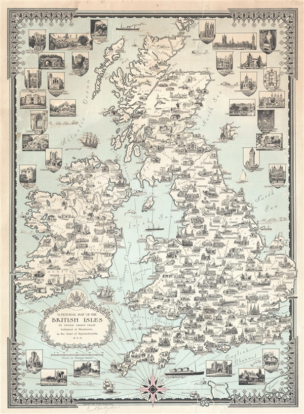 A Pictorial Map of the British Isles By Ernest Dudley Chase.