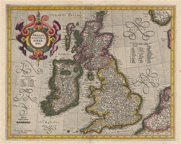 Anglia, Scotia et Hibernia. - Main View