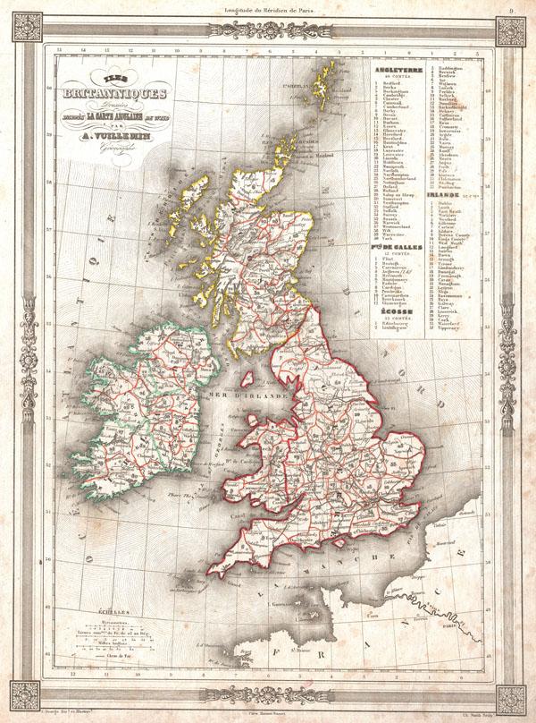 Iles Britanniques Dresees d'appres La Carte Anglaise de Wild. - Main View