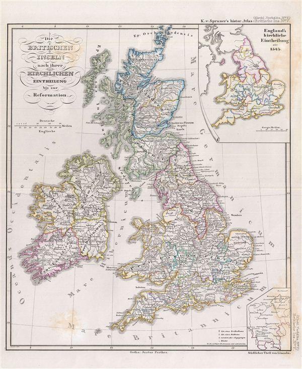 Die Britischen Inseln nach ihrer kirchlichen Eintheilung bis zur Reformation.