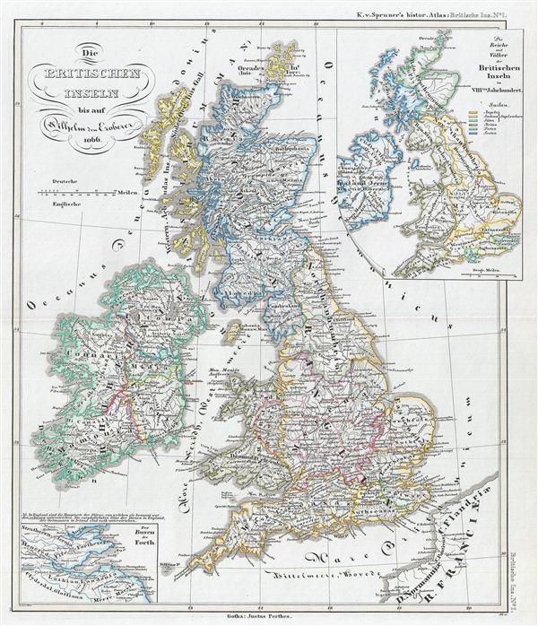 Die Britischen Inseln bis auf Wilhelm den Eroberer 1066.