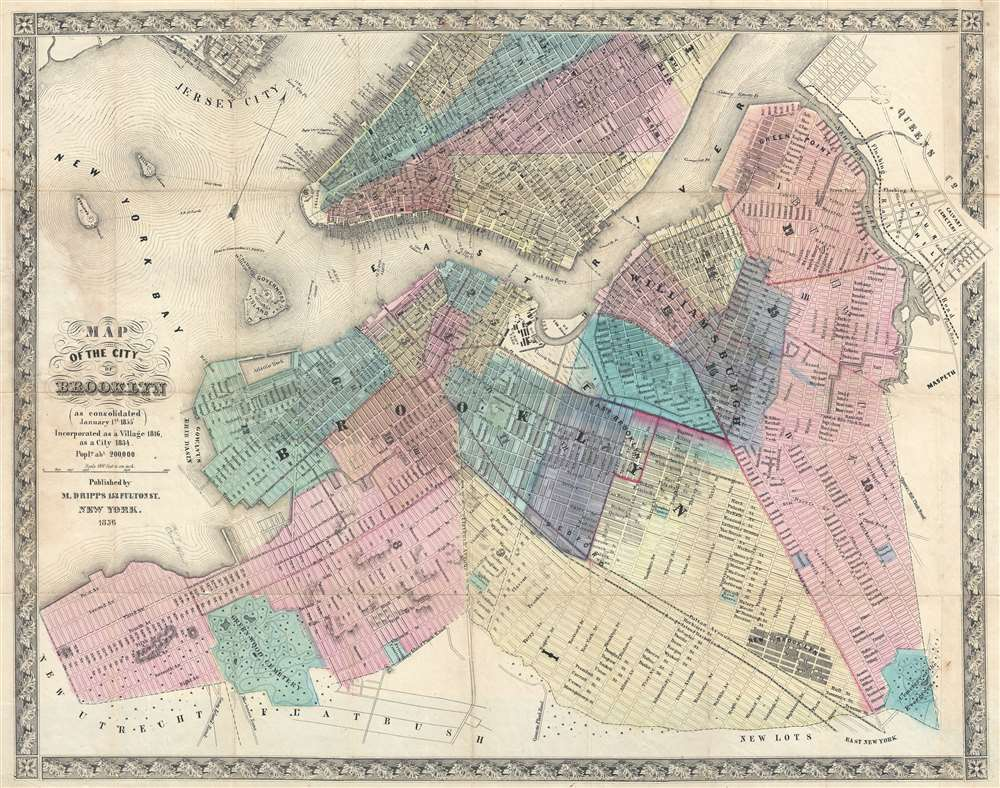 Map of the City of Brooklyn (as consolidated January 1st 1855).