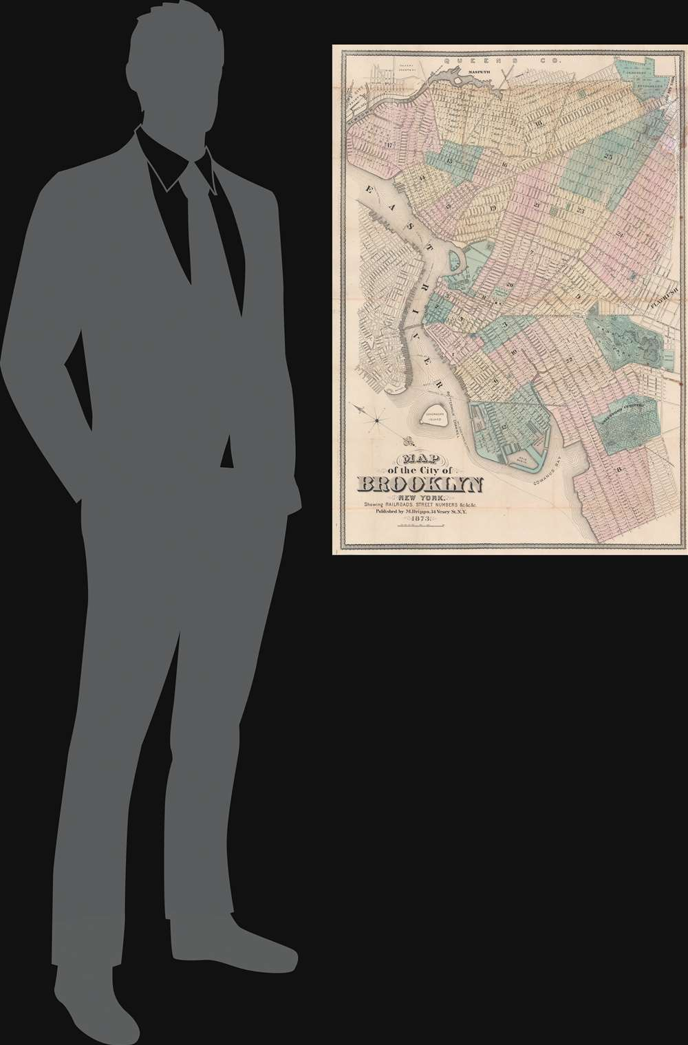 Map of the City of Brooklyn New York. - Alternate View 1