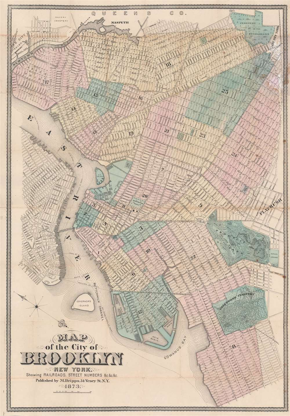 Map of the City of Brooklyn New York. - Main View