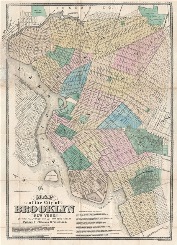 Map of the City of Brooklyn New York.