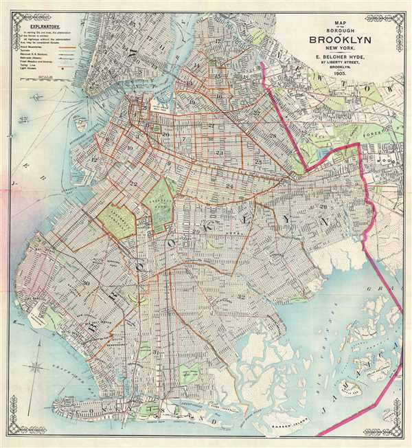 Map Of The Borough Of Brooklyn New York Geographicus Rare Antique Maps