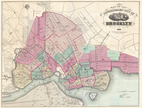 Map of the Consolidated City of Brooklyn.