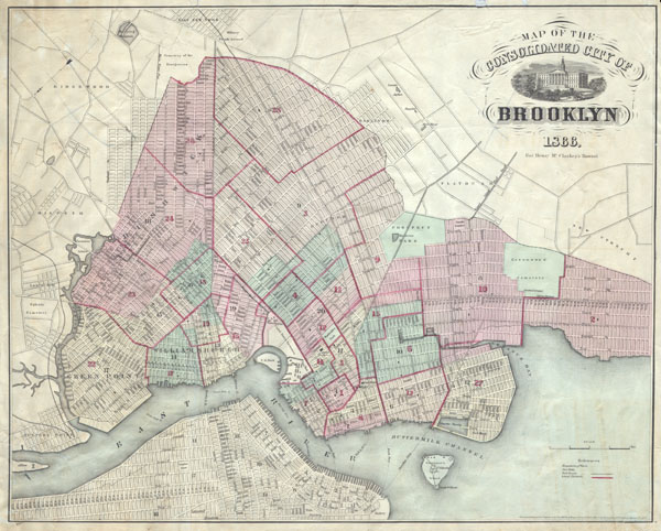 Map of the Consolidated City of Brooklyn. - Main View