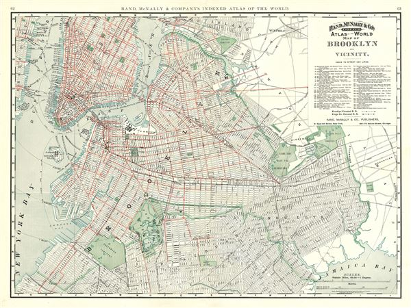 Map of Brooklyn and Vicinity. - Main View