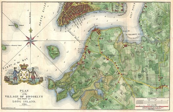 Plan of the Village of Brooklyn and part of Long Island 1766.