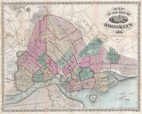 Map of the City of Brooklyn.