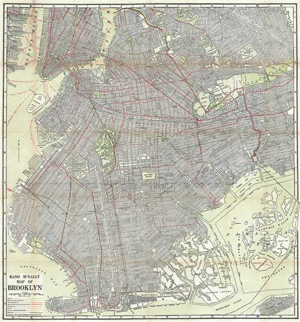 Rand McNally Map of Brooklyn.