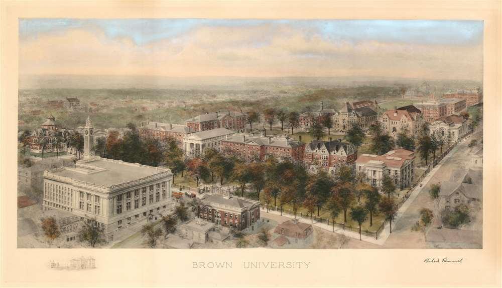 1908 Richard Rummell View of Brown University, Rhode Island