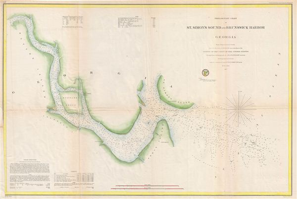 Preliminary Chart of St. Simon's Sound and Brunswick Harbor Georgia.