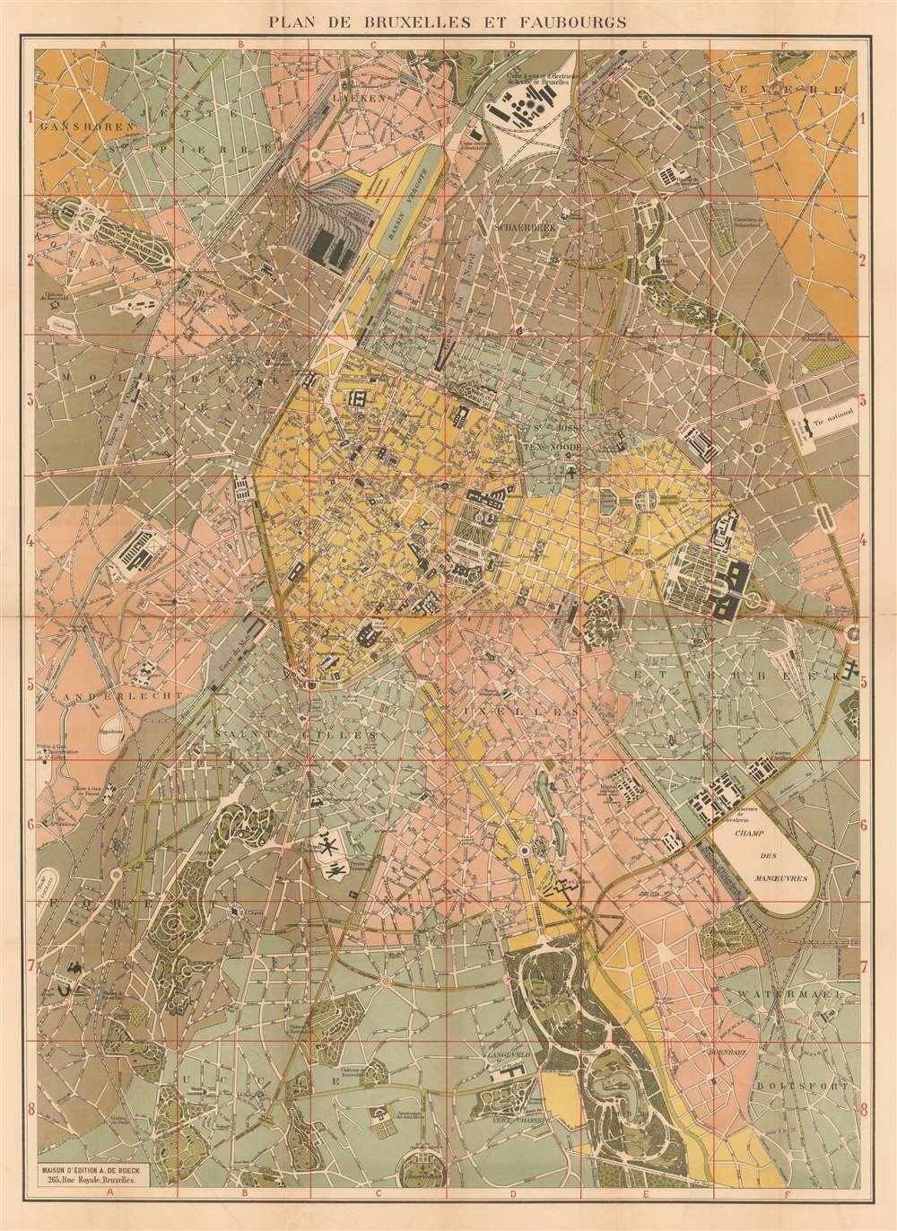 Plan de Bruxelles et Faubourgs. - Main View