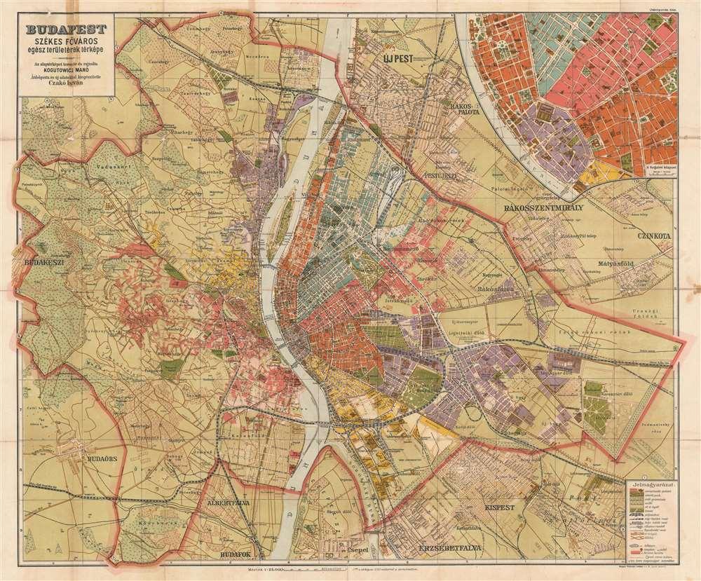 Budapest Szekesfovaros Egesz Teruletenek Terkepe Map Of The