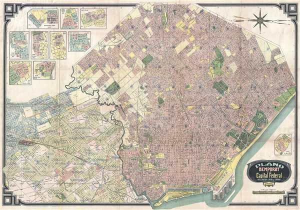 Plano Bemporat de la Capital Federal Avellaneda y Lomas de Zamora.