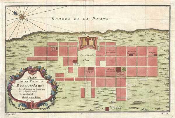 Plan de la Ville de Buenos-Ayres.