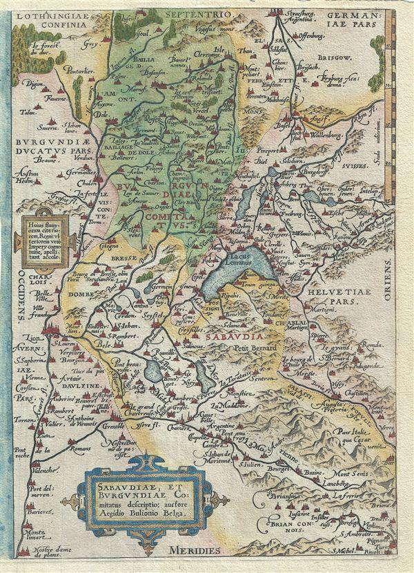 Sabaudiae, et Burgundiae Comitatus Descriptio. - Main View