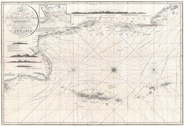 A New Chart of the Andaman and Nicobar Islands with the Adjacent Continent, Drawn from the latest Surveys, by J. W. Norie, Hydrographer. - Main View