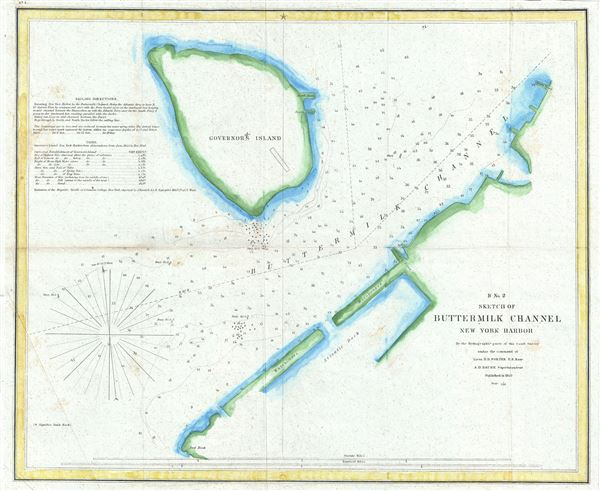 B No. 2 Sketch of Buttermilk Channel New York Harbor.