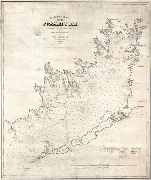 Eldridge's Chart No. 10. Buzzard Bay, from the United States Coast and George Eldridge's Surveys.