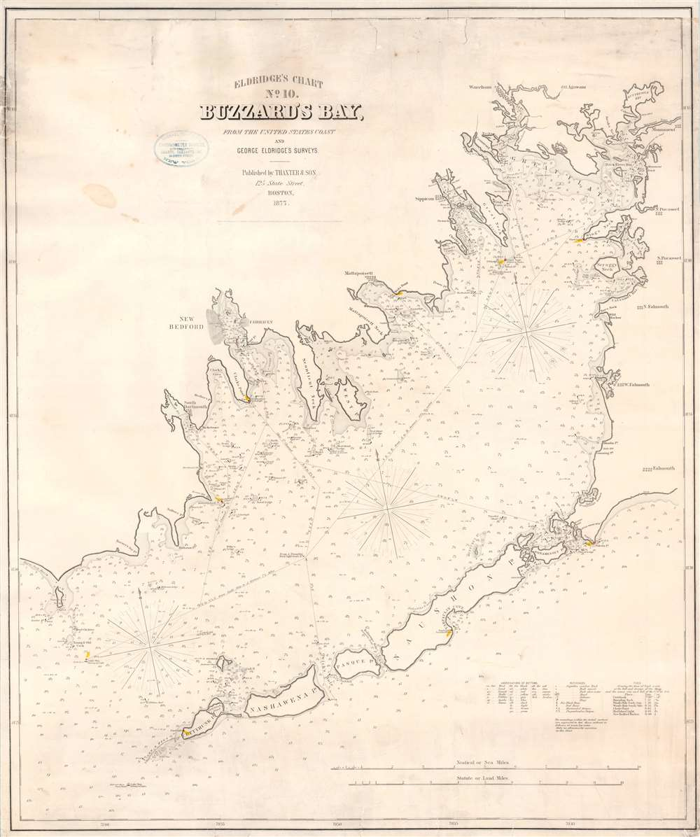 Eldridge's Chart No. 10. Buzzard's Bay, from the United States Coast and George Eldridge's Surveys. - Main View