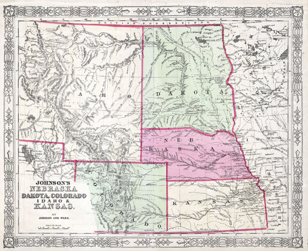 Johnson's Nebraska Dakota, Colorado, Idaho & Kansas. - Main View