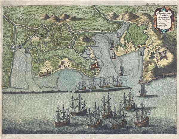 Afbeeldinge van de Cabo St. Augustin: Met haer forten. - Main View
