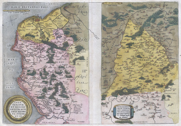 1579 Ortelius Map of Calais and Vermandois, France and Vicinity