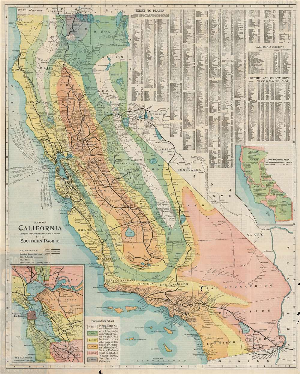 Map of California. Compiled from officiala nd authentic sources by the Southern Pacific.