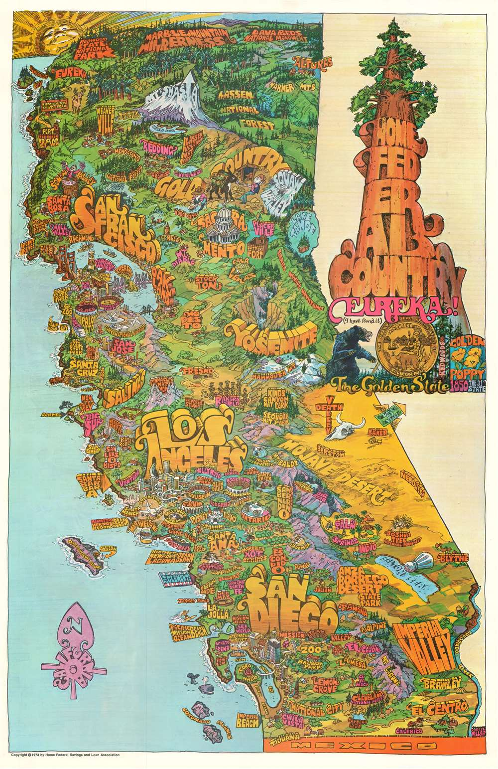 Home Federal Country. Eureka! The Golden State. - Main View