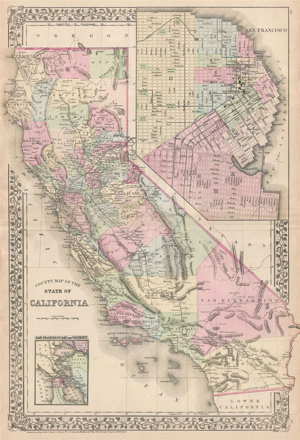County Map of the State of California. - Main View