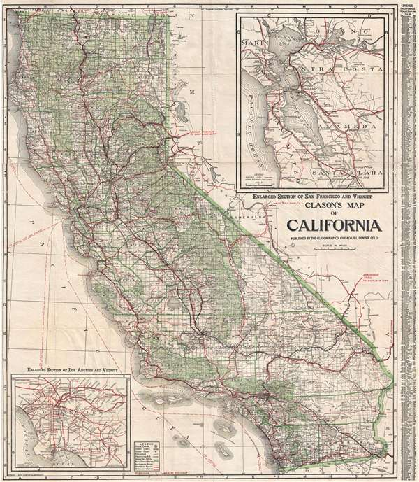 Clason's Map of California.