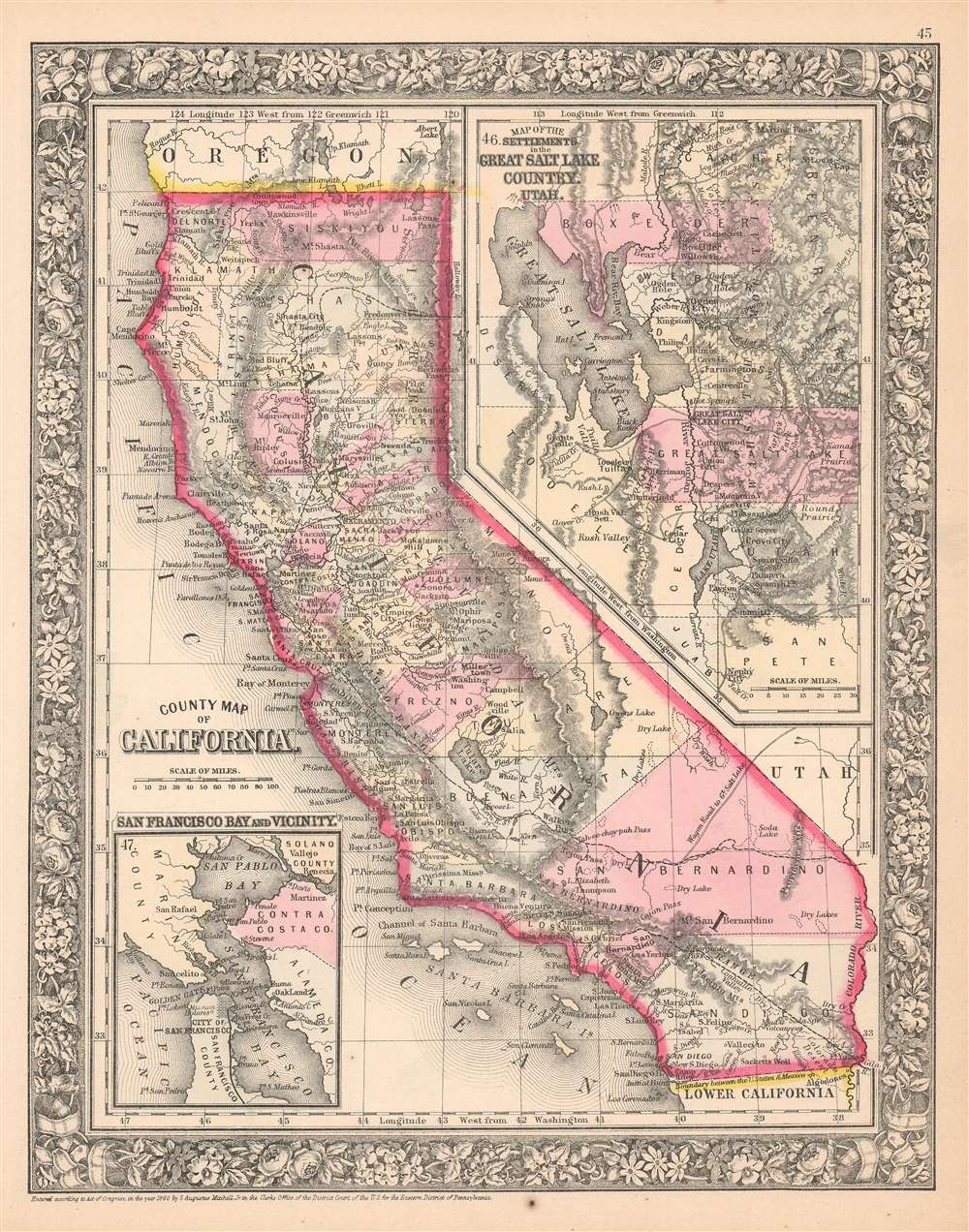 County Map of California. - Main View