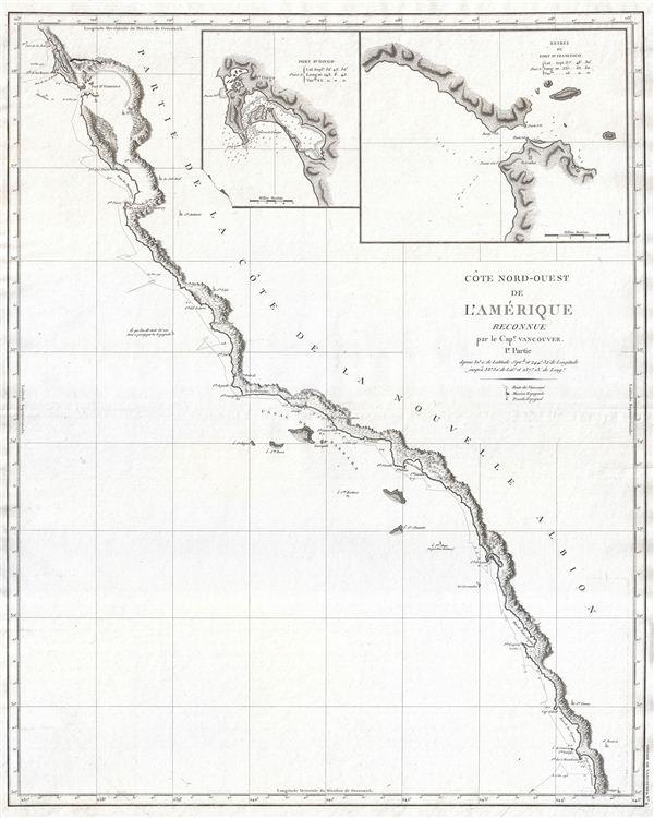 Cote Nord-Ouest de L'Amerique Reconnue par le Cape. Vancouver. 1e Partie.