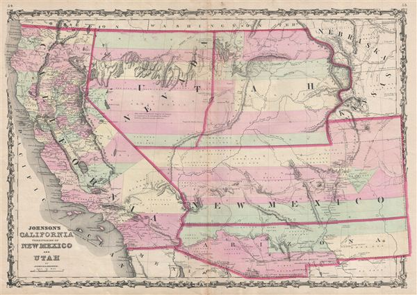 Johnson's  California Territories of New Mexico and Utah.