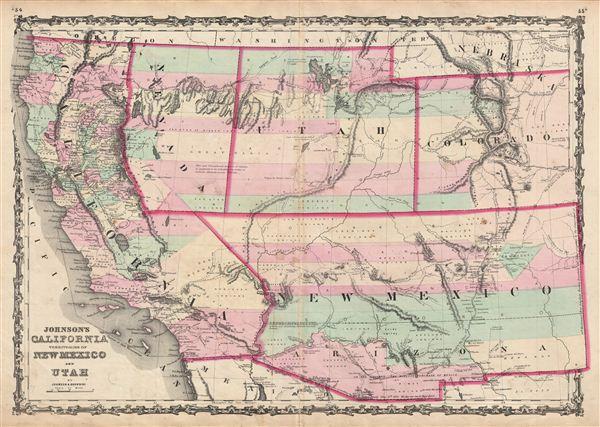 Johnson's  California Territories of New Mexico and Utah. - Main View