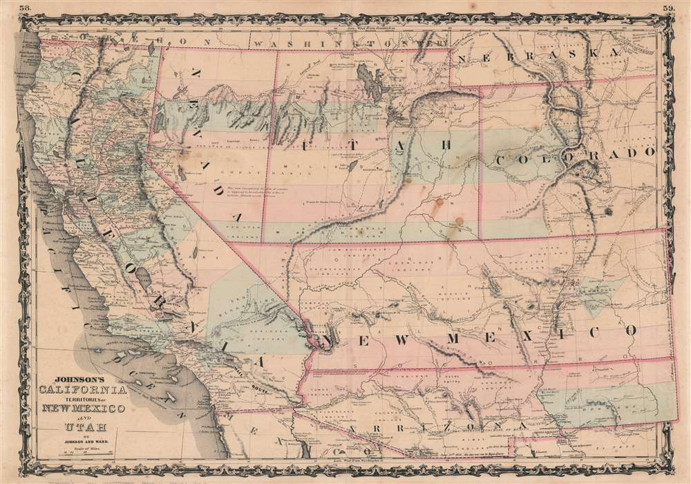 Johnson's California. Territories of New Mexico and Utah. - Main View